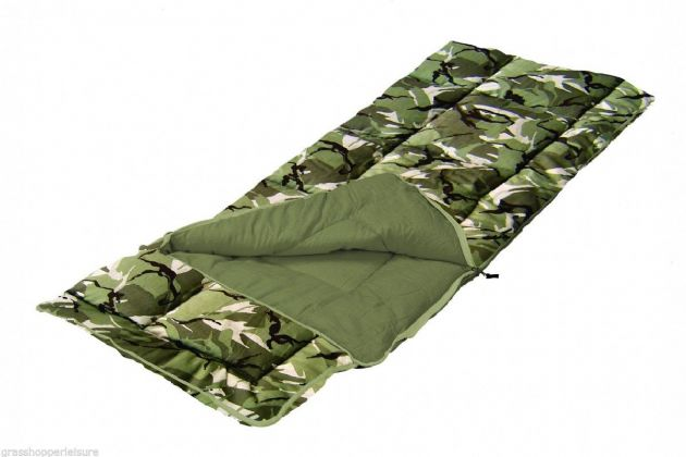 Sunncamp Kids Sleeping Bag - Junior Sleeping Bag - Camouflage- With/ Without Pillow - Grasshopper leisure